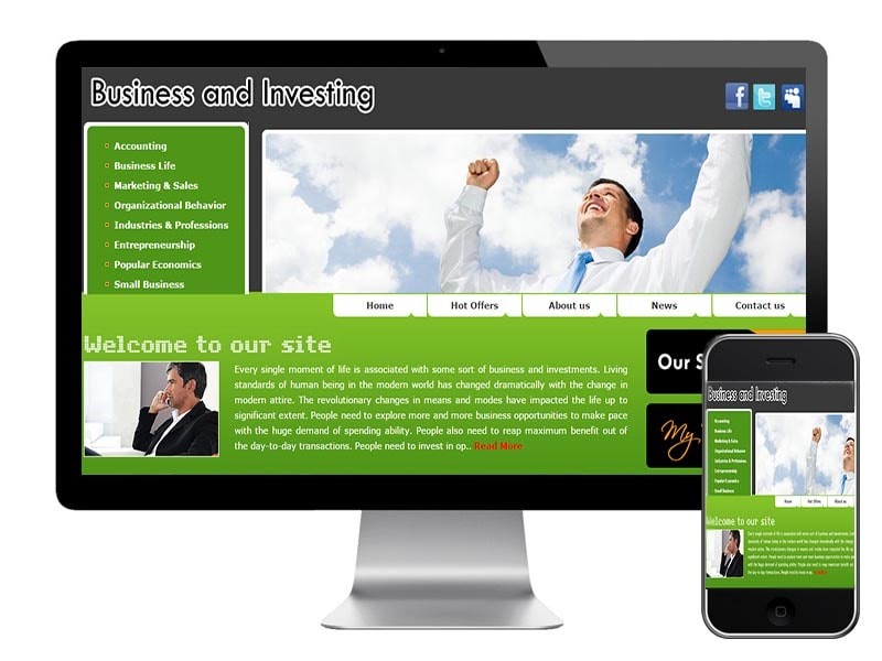 Business and Investments Website DollarsInvest.com