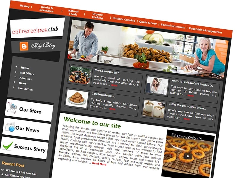 Recipe Learning Website OnlineRecipes.club