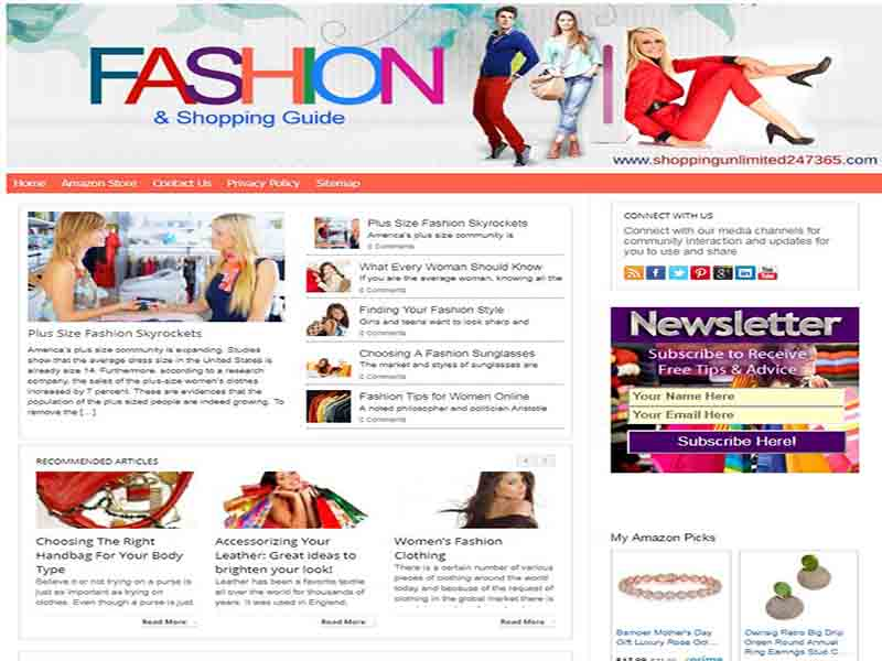 Fashion and Shopping Guide Website