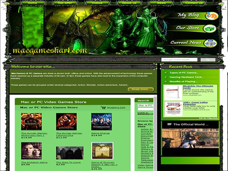 Gaming Website MacGameskart.com