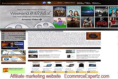 Affiliate marketing website  EcommerceEexpertz.com